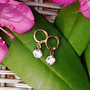 Jewelry - NWOT Understated Gold & CZ Earrings
